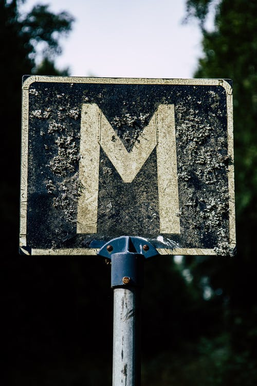 Black and White Arrow Sign