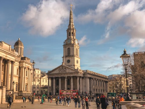 Free stock photo of london, trafalgar square