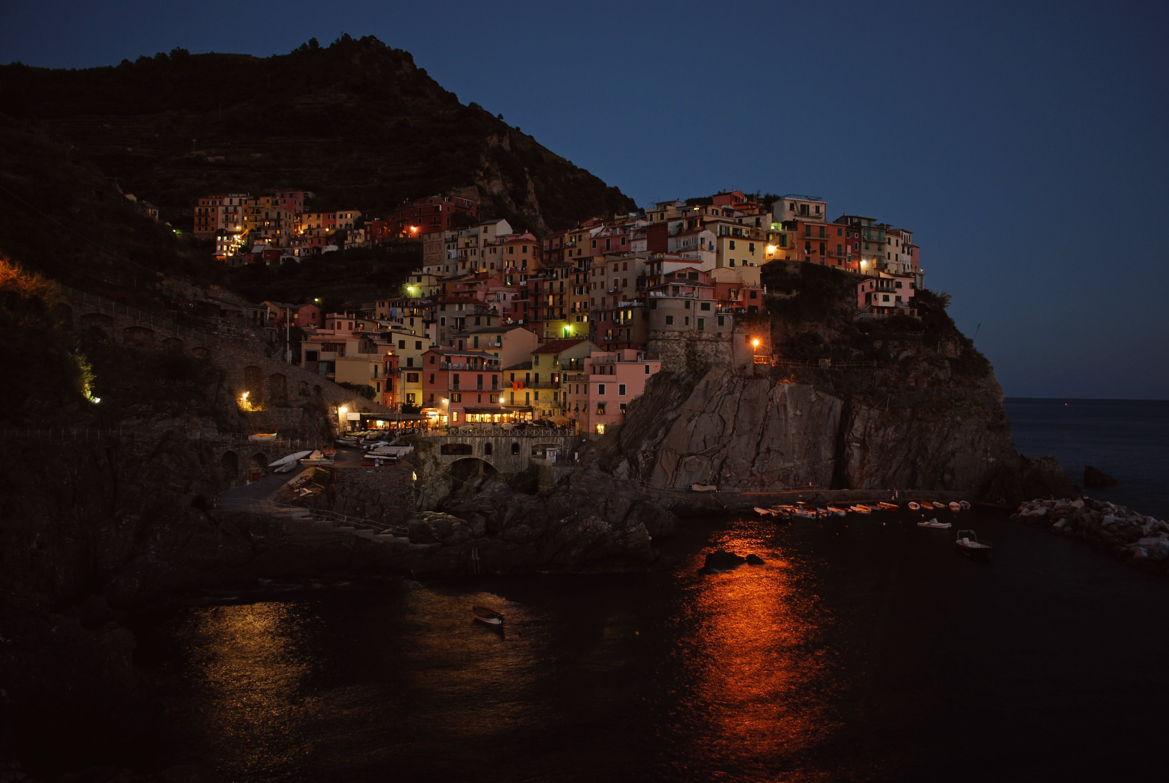 Free stock photo of buildings, cinque terre, cityscape, evening