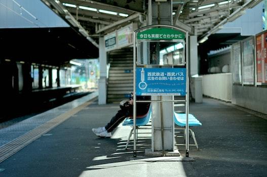 Free stock photo of bench, public transportation, waiting, station