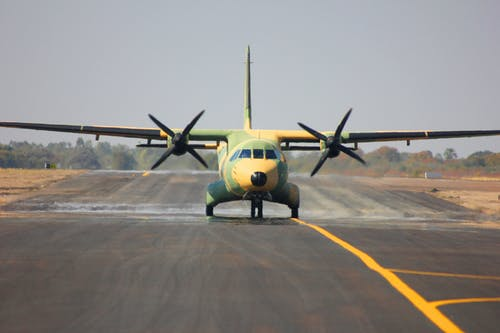 Plane on Airport Runway