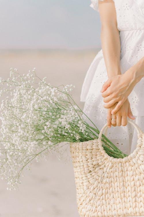 Imagine de stoc gratuită din coș, coș de nuiele, flori