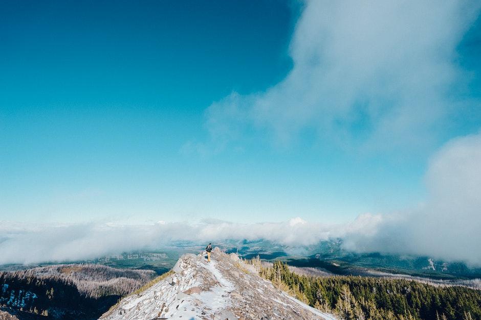 hiker, hiking, mountain