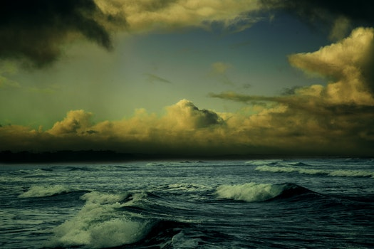 Free stock photo of sea, sky, water, clouds