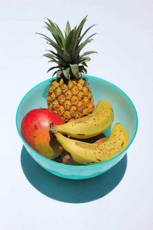 Fruits in Blue Bowl