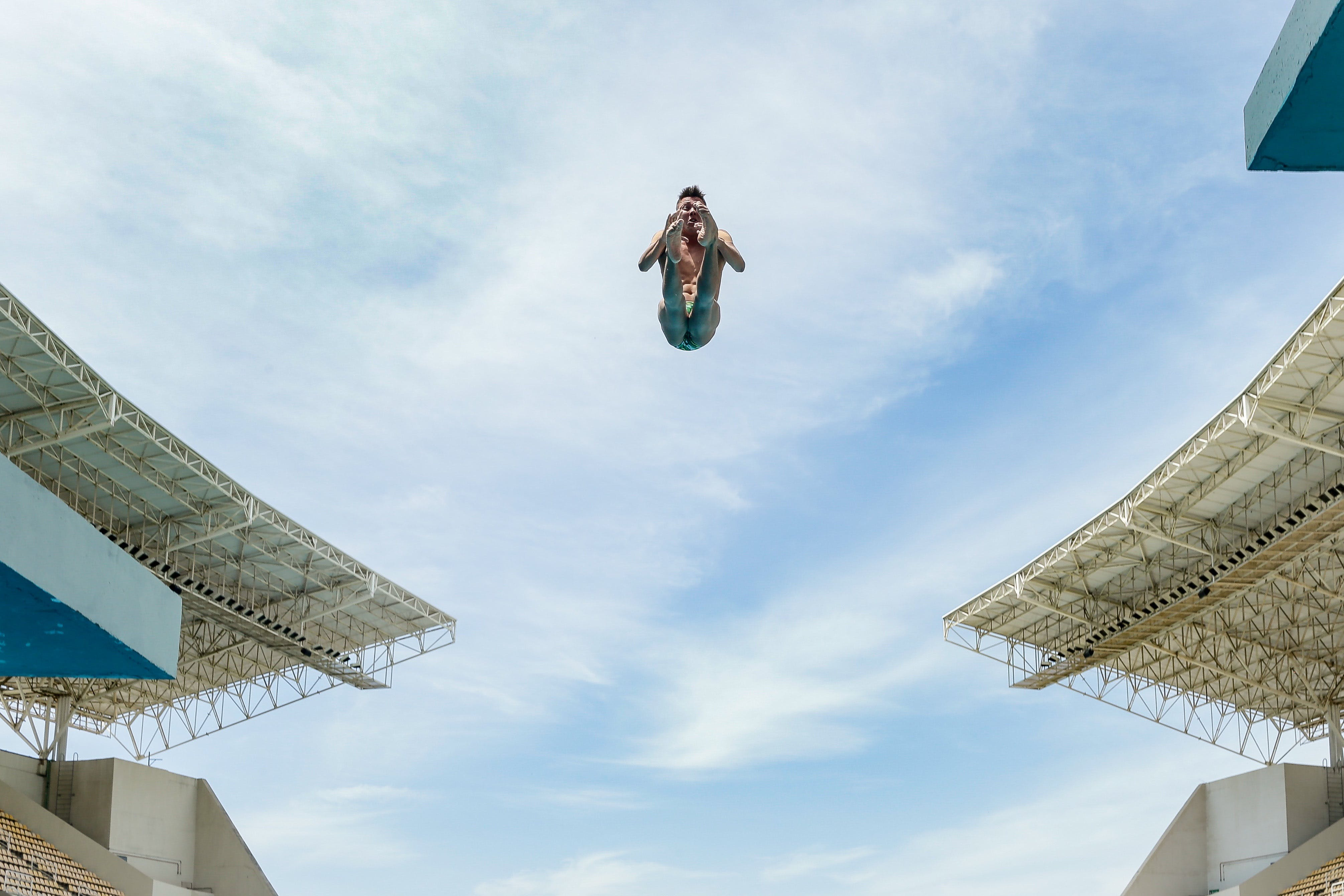 Free stock photo of sky, buildings, skydiving, height