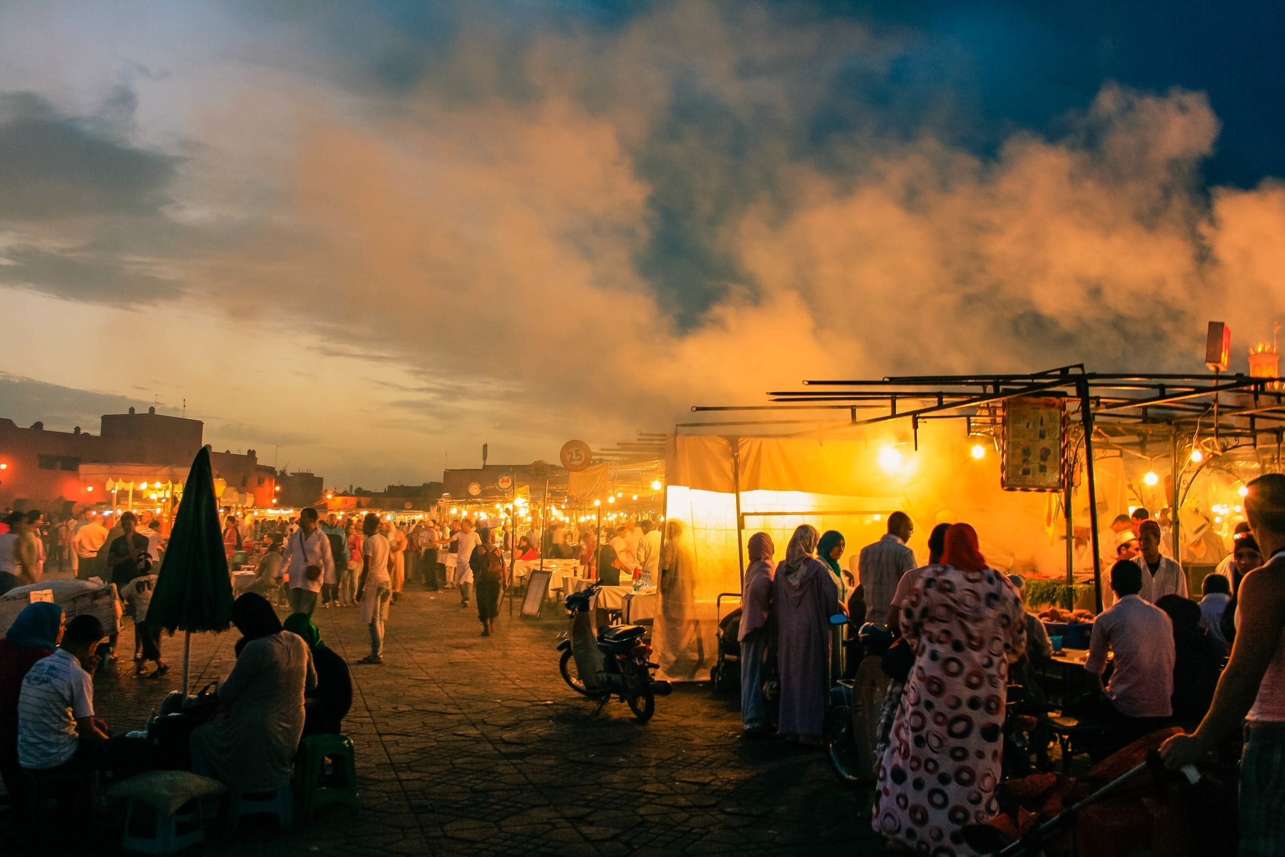 People In Night Market