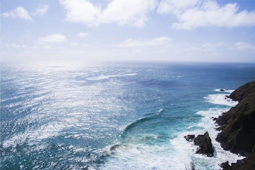Foto d'estoc gratuïta de cel, des de dalt, foto aèria, horitzó