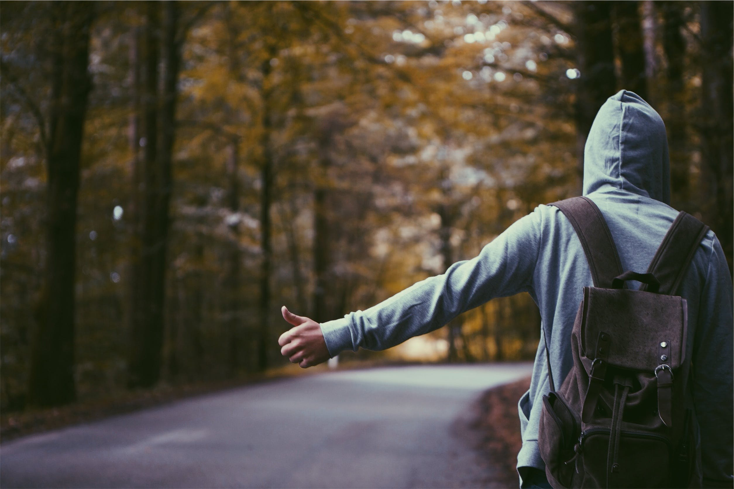 Free stock photo of road, man, people, backpack