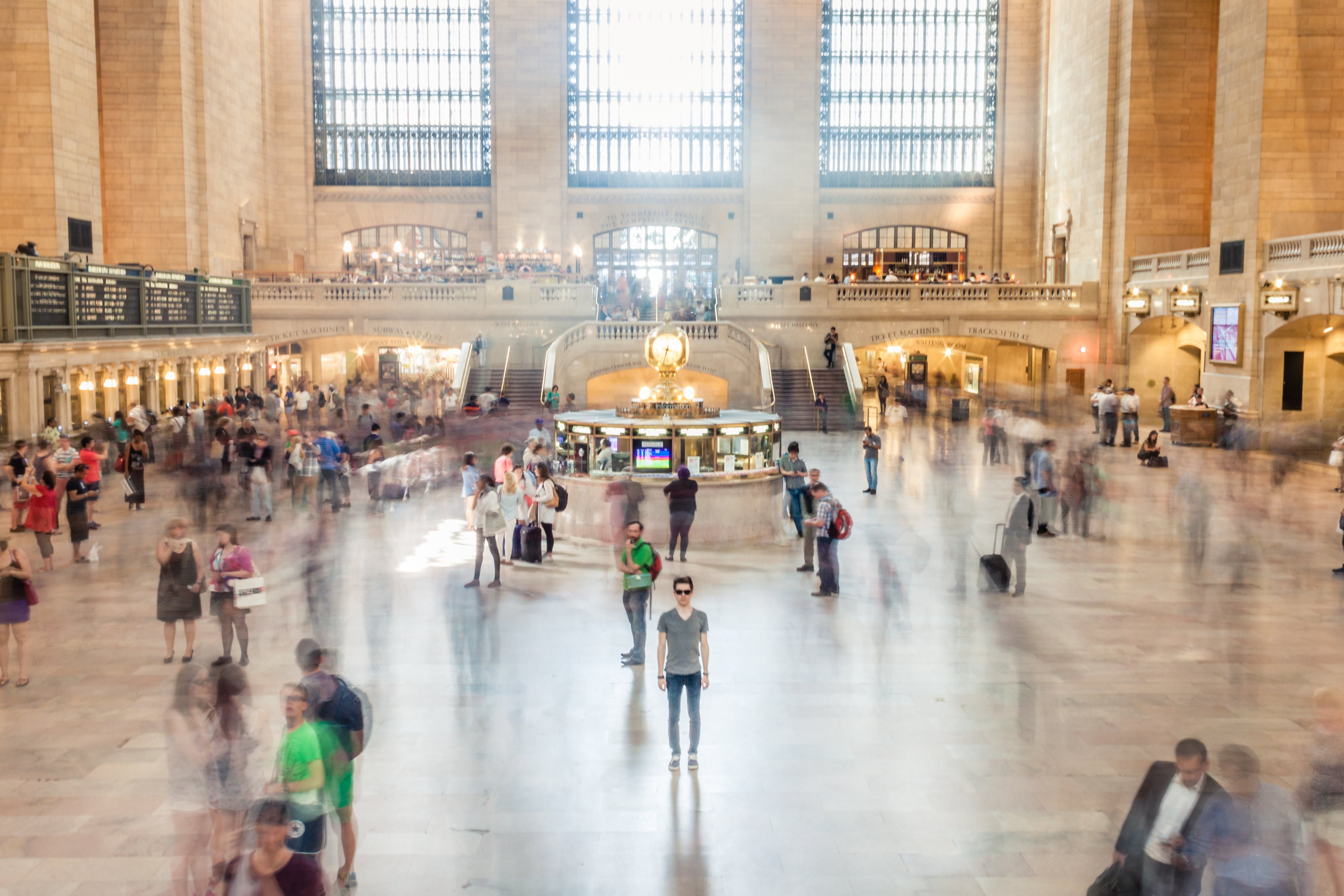 Free stock photo of blur, blurred, crowd, grand central station