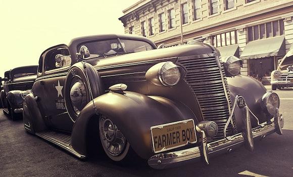 Free stock photo of car, vintage, oldtimer, sepia