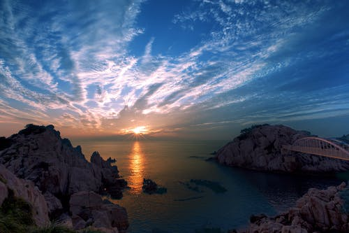 경치가 좋은, 물, 바다, 바다 경치의 무료 스톡 사진