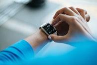 hands, apple, wristwatch