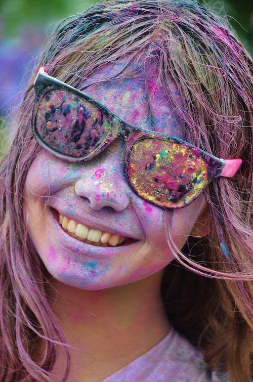 人, 塗料, 墨鏡, 女孩 的 免費圖庫相片