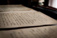 handwritten, blur, letter