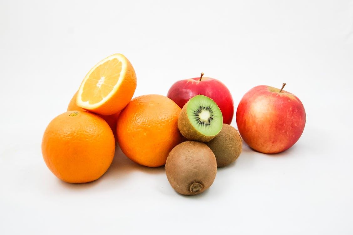món ăn, những quả cam, táo