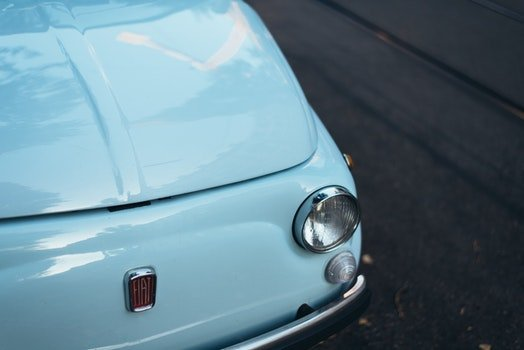 Free stock photo of blue, car, vintage, 500