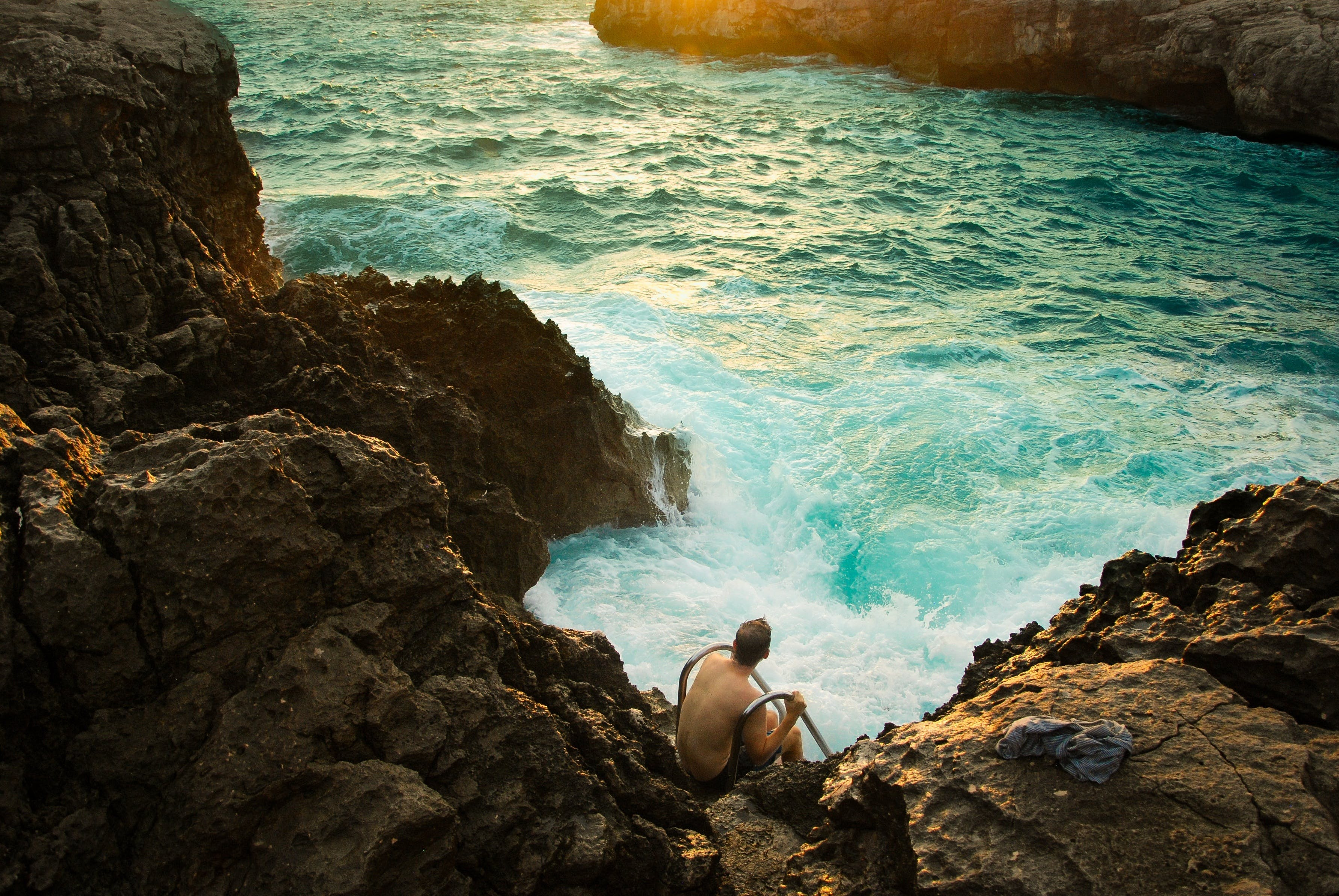Free stock photo of boiling surf, ocean, outdoor, rocky shore