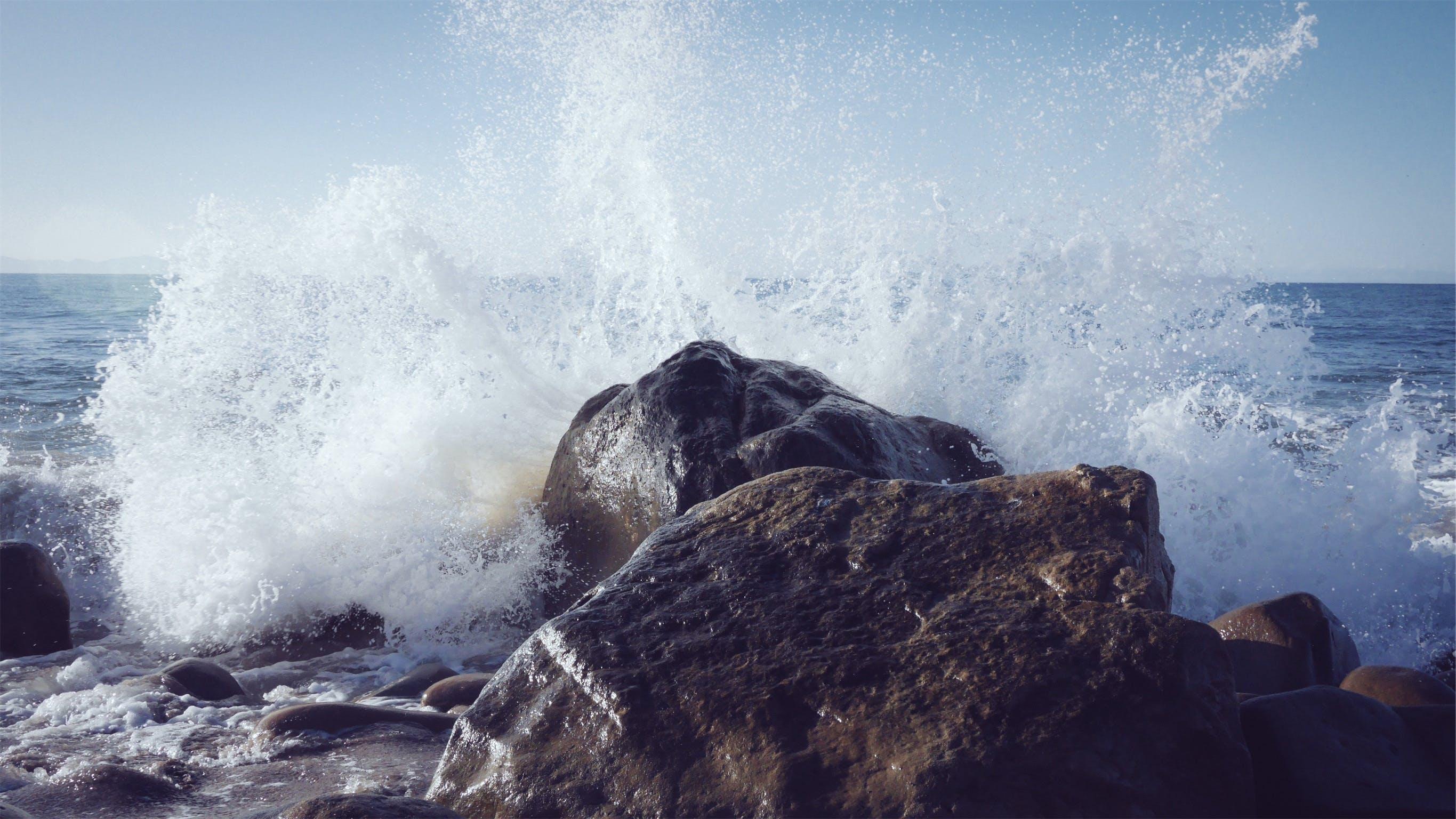 Imagine de stoc gratuită din apă, face cu mâna, împroșcare cu apă, lângă ocean