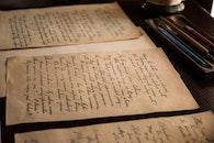handwritten, letter, old