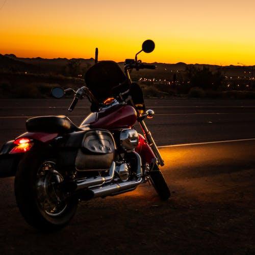 Imagine de stoc gratuită din apus, automobil, bicicleta cu motor