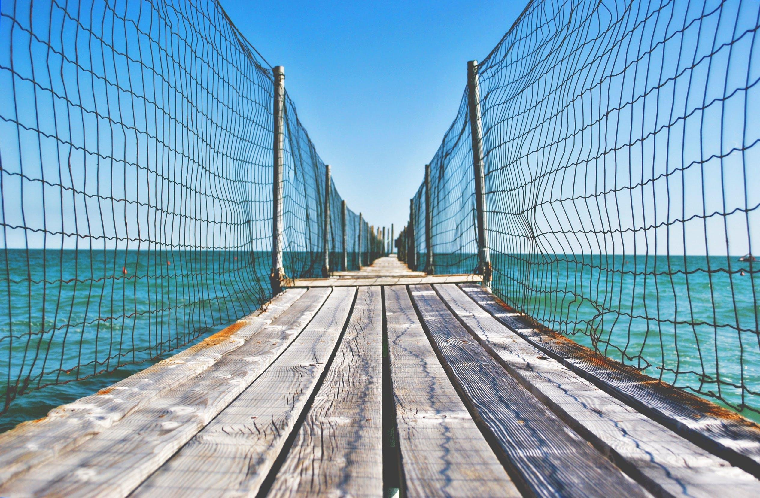 Free stock photo of wood, sea, sky, water