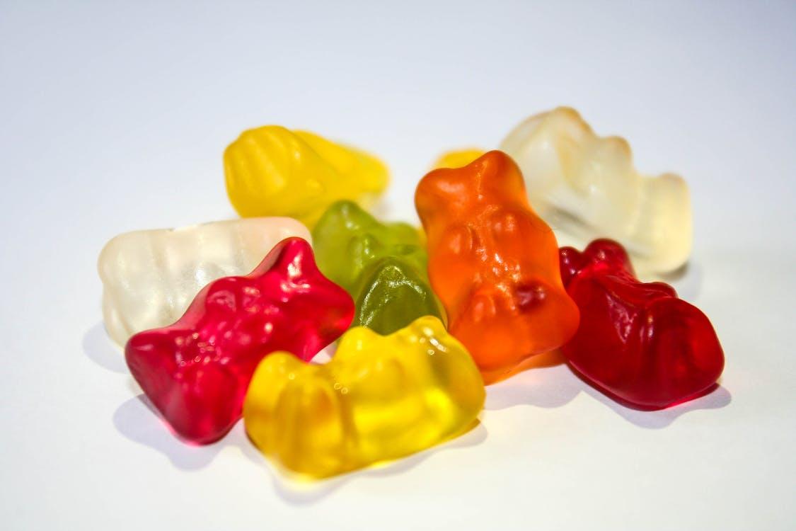 Orange Red Yellow Green Gummie Bears
