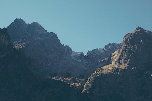 Free stock photo of landscape, peak, valley, mountain landscape