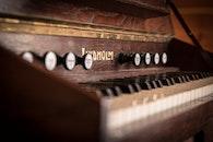 vintage, blur, piano