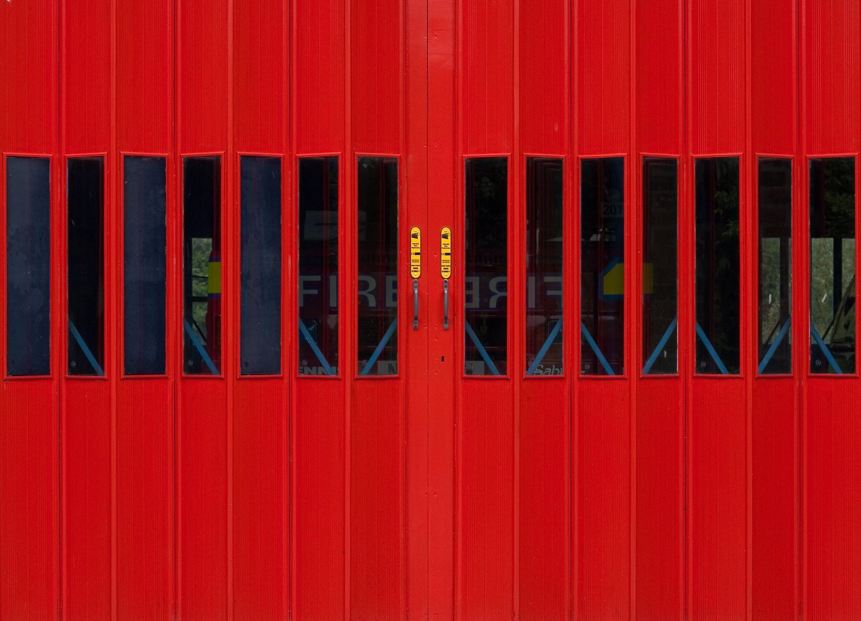 Free stock photo of door, fire station, fire truck, garage