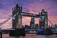 city, sunset, landmark