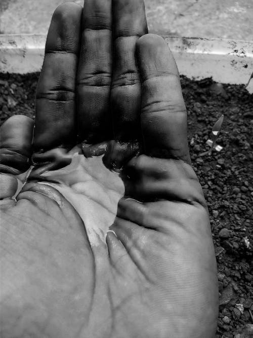 Free stock photo of black, black hands, handful