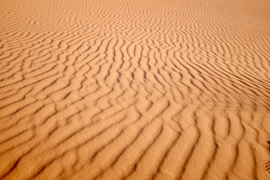 Free stock photo of sand, desert, pattern, stripes