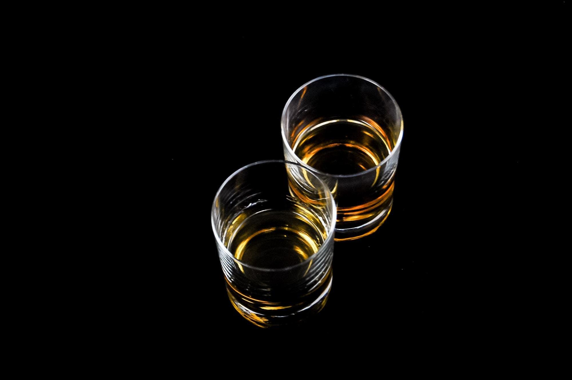 alkoholholdige drikkevarer, drikke, drikkeglass