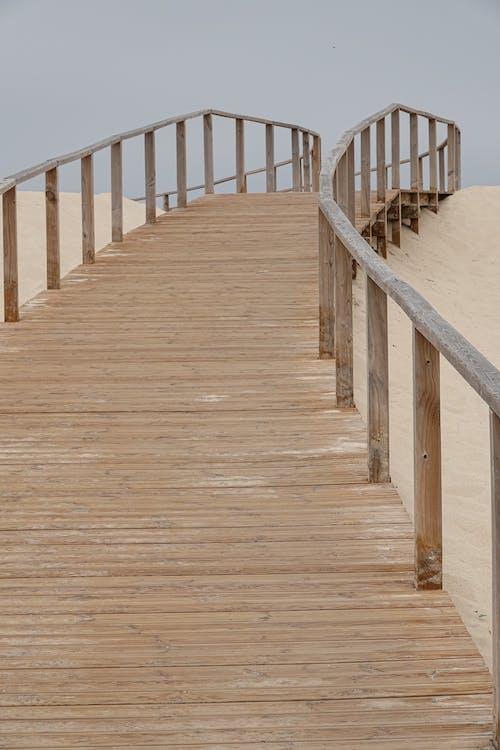 Free stock photo of beach, fence, path