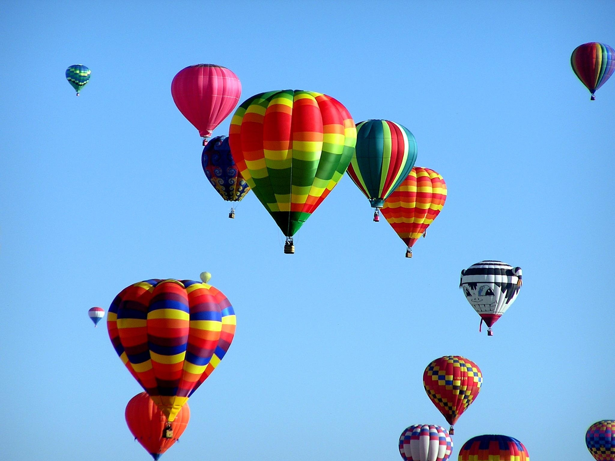 Red Green Hot Air Balloon During Daytime Free Stock Photo