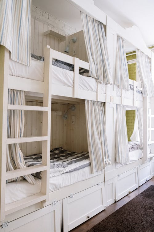 White and Brown Wooden Bunk Bed