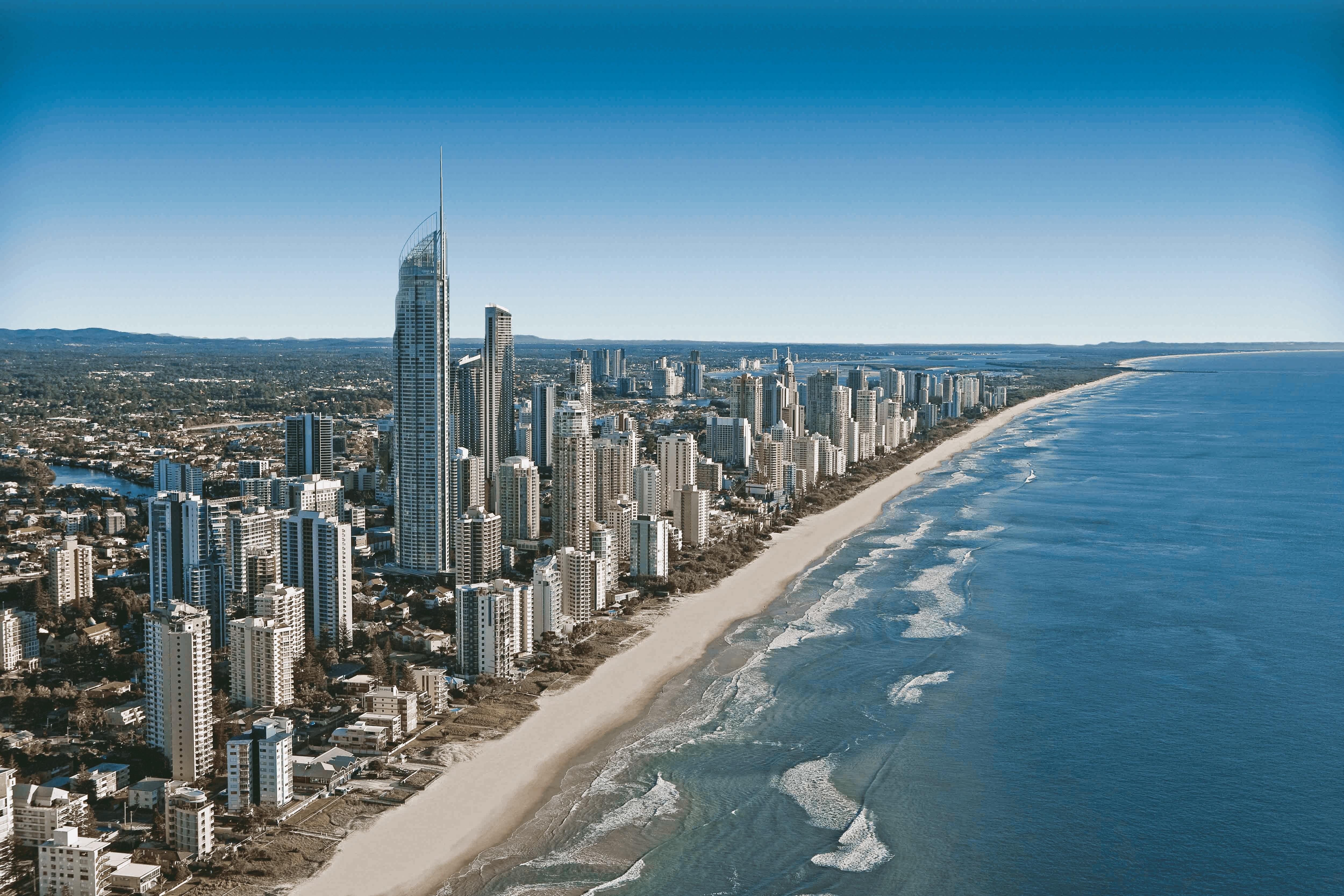 Free stock photo of sea, city, beach, sand