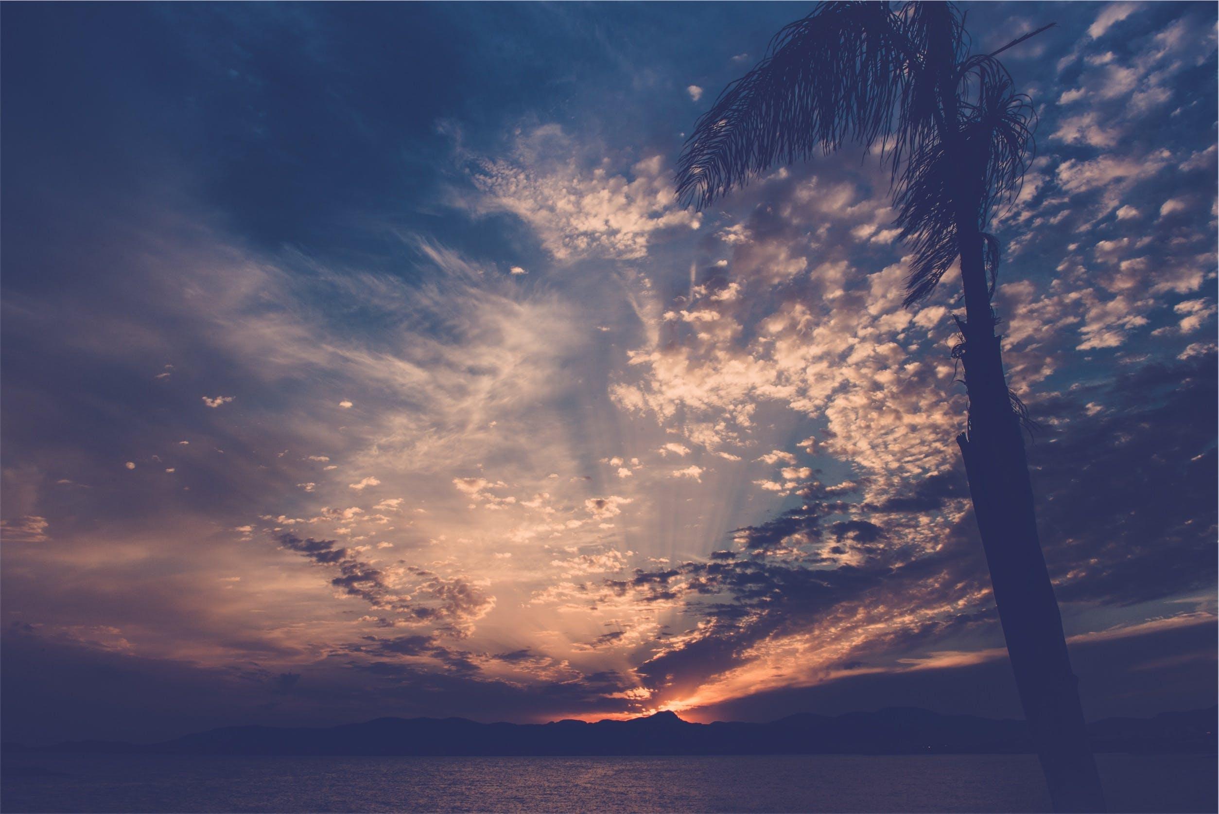 Free stock photo of sky, sunset, night, water