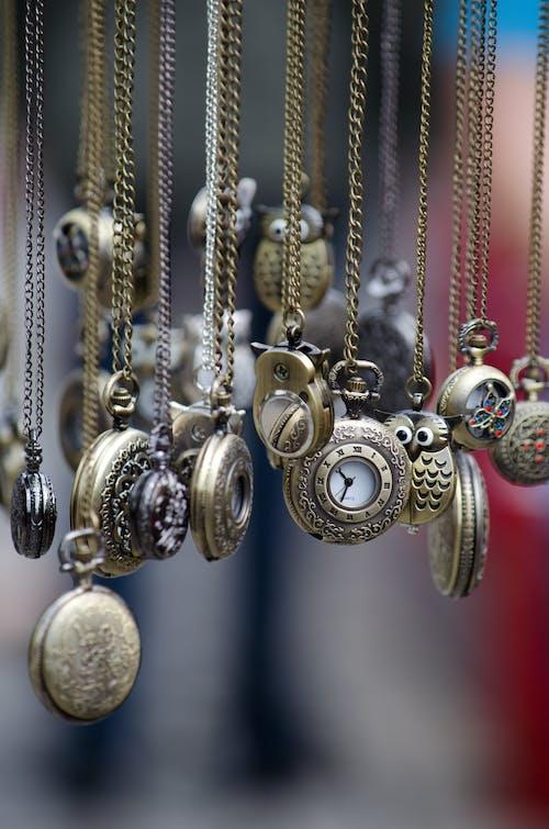 Foto stok gratis arloji, arloji saku, rantai, waktu