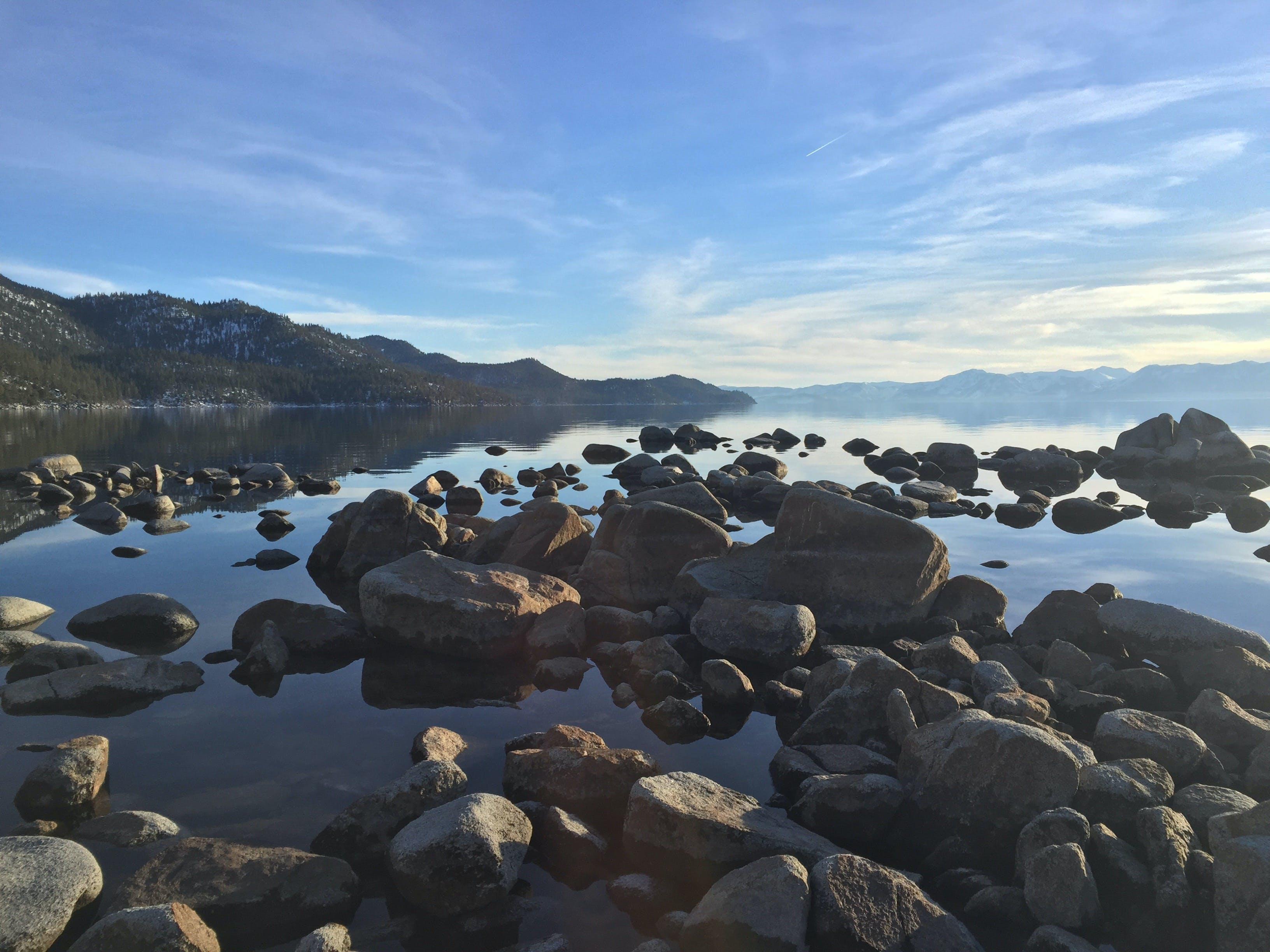 Free stock photo of nature, water, rocks, lake
