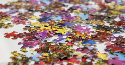 Purple Pink and Yellow Jigsaw Puzzle
