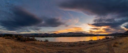 Бесплатное стоковое фото с закат, панорама