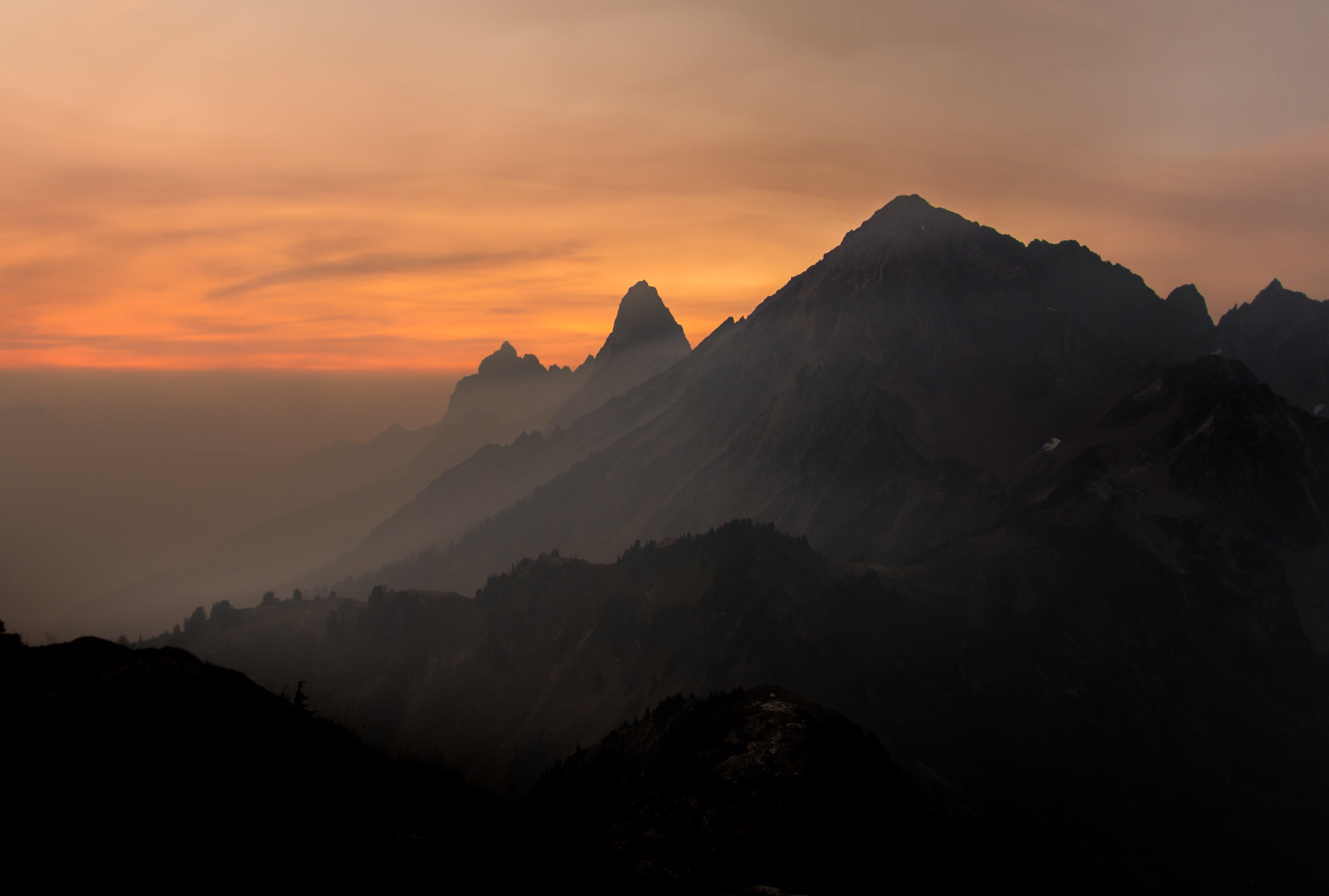 Free stock photo of landscape, nature, sunset, mountain