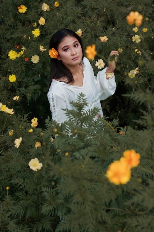 Fotobanka sbezplatnými fotkami na tému Ážijčanka, biele šaty, bruneta