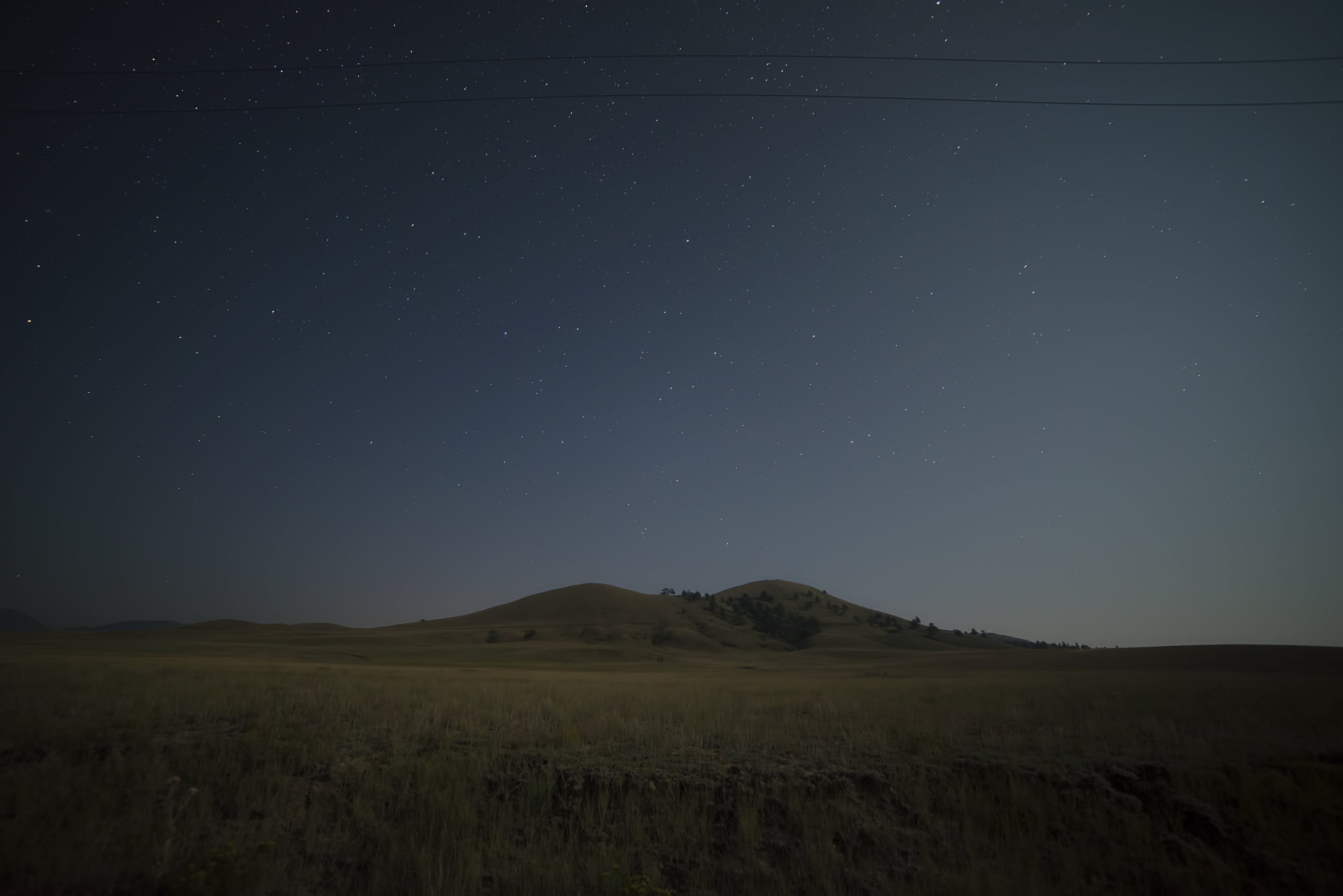 astrophotography, cosmos, hill