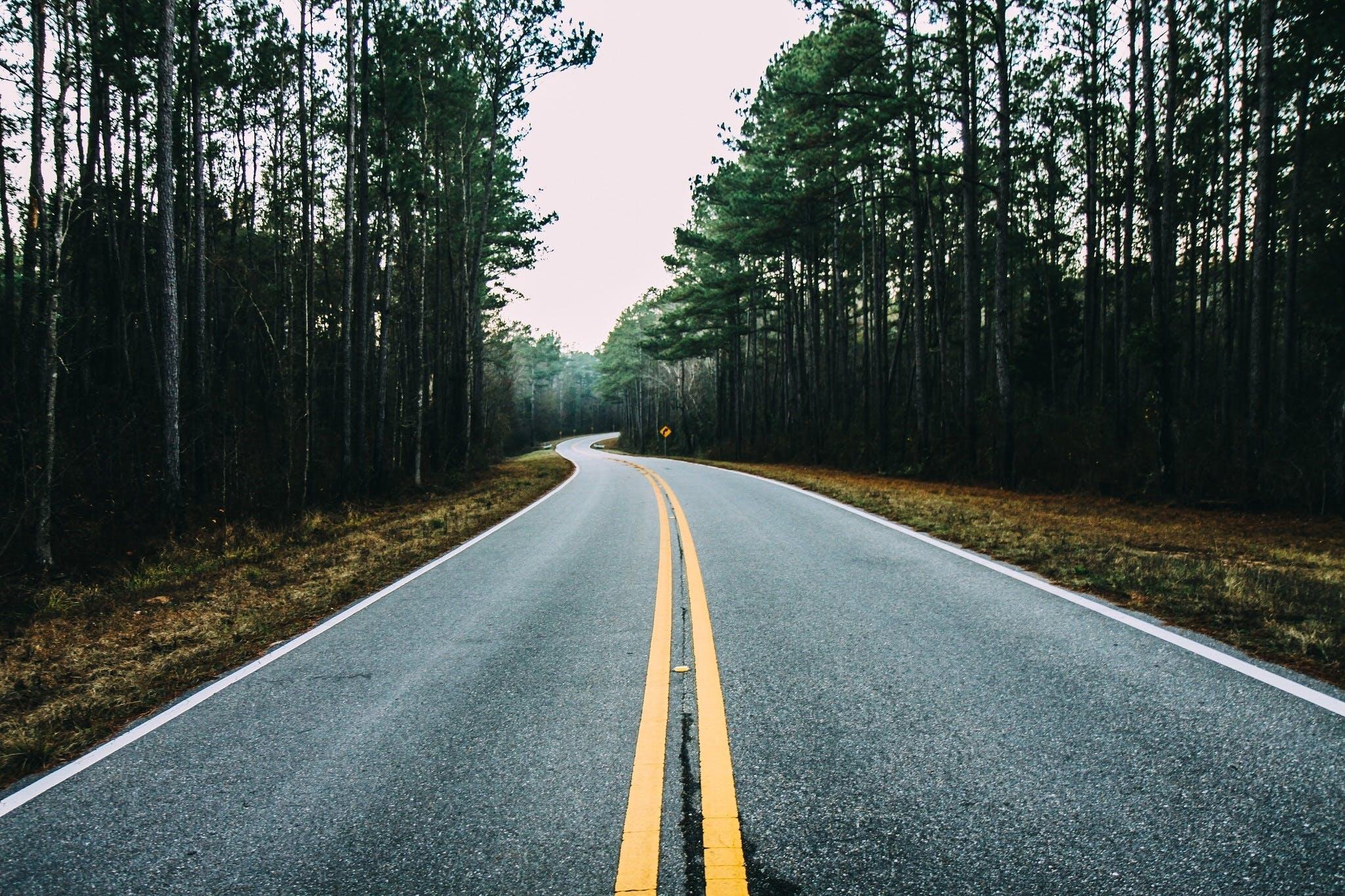 long road, road, road trip