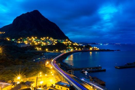 Free stock photo of sea, city, road, streets
