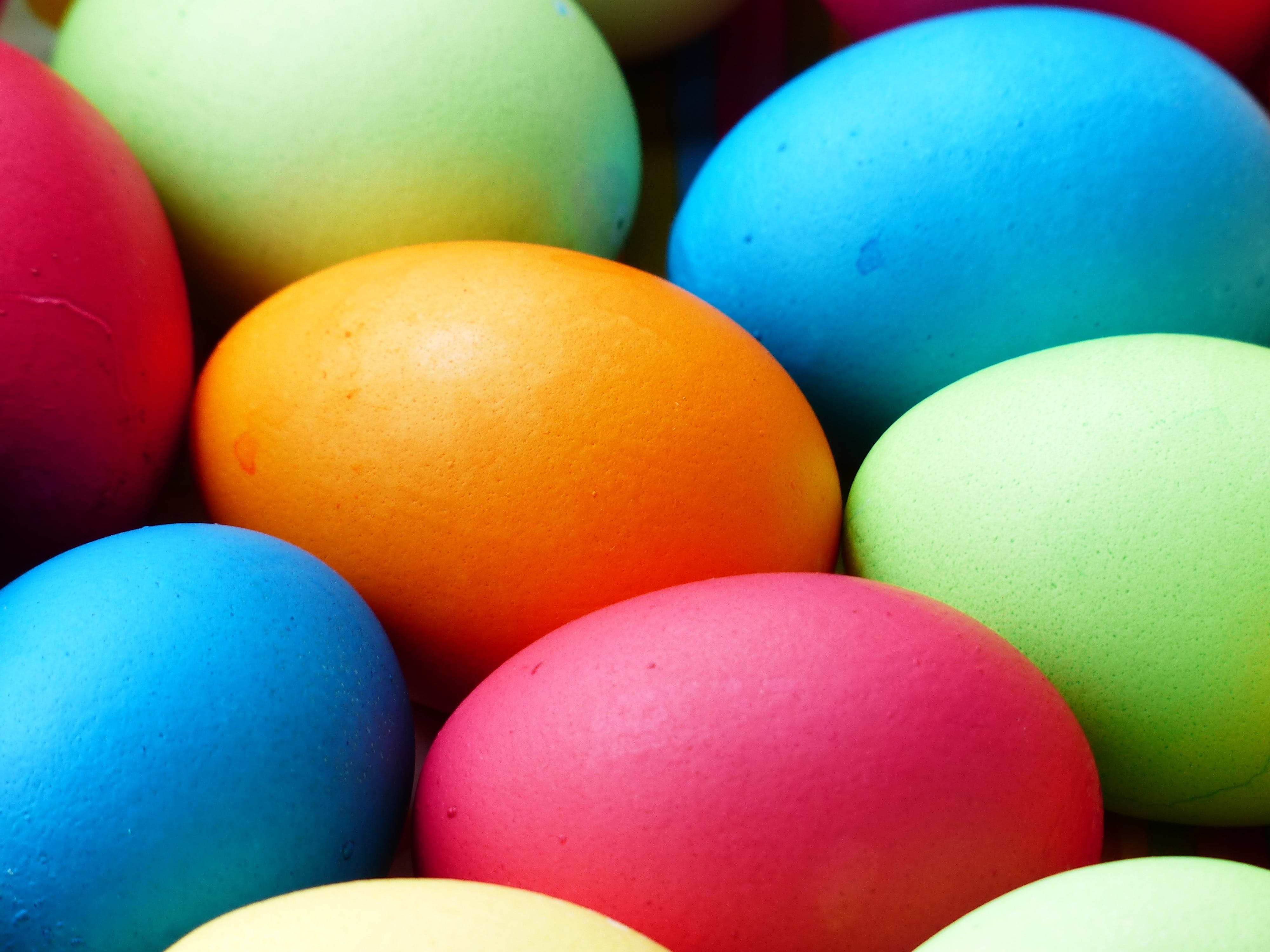 Selective Focus Photography of Assorted-color Eggs
