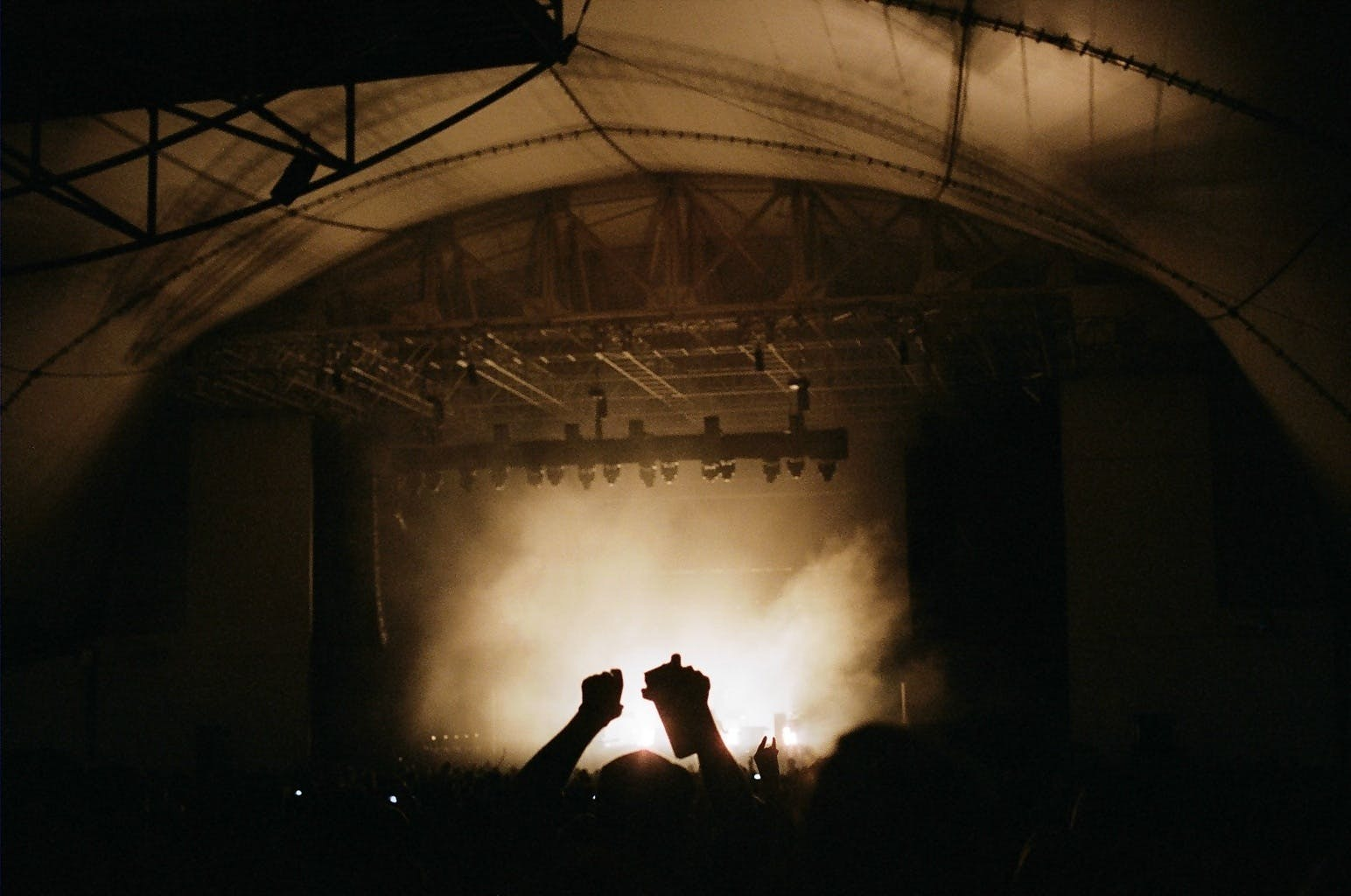 Free stock photo of hands, lights, crowd, music